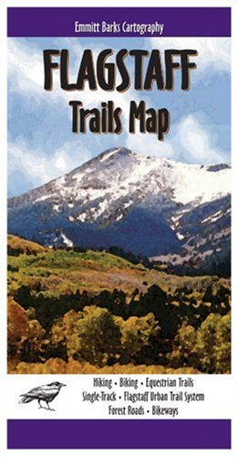 Flagstaff Trails Map by Emmitt Barks Cartography - Mall Flagstaff