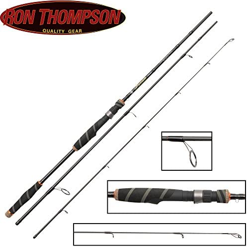 Ron Thompson Tyran NX de Series Travel 210 cm 5 – 20 G caña de spinning, de 3 piezas caña de pescar para pesca a Spinning perca, trucha & lucioperca