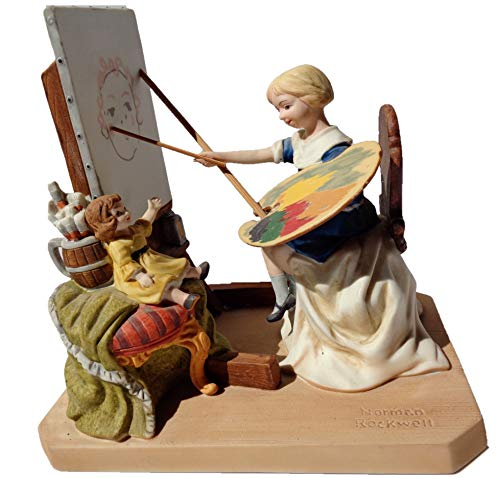 Norman Rockwell - ''The Artist's Daughter'' Porcelain Figurine]()