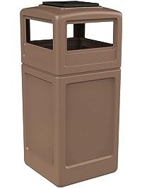 Waste  Shop Amazon com   Outdoor Trash Cans. Decorative Outdoor Garbage Cans. Home Design Ideas