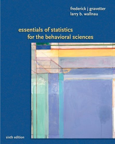 Essentials of Statistics for Behavioral Science 6th Edition