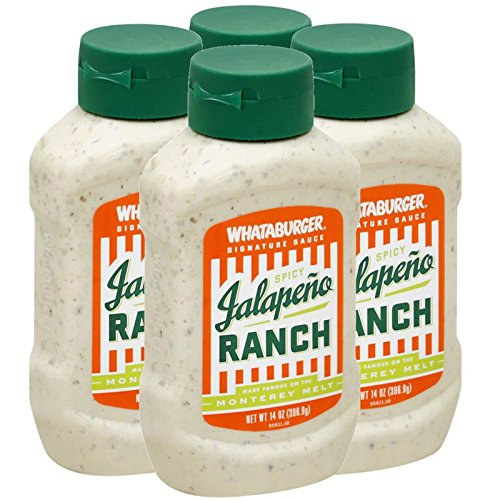(4-PACK) Whataburger Spicy Jalapeno Ranch - 14oz Bottle by Whataburger