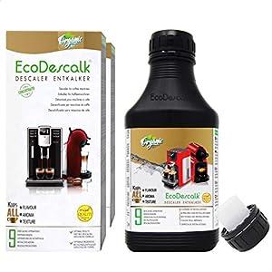 EcoDescalk Biologique Concentré (2×9 Détartrages). Détartrant 100% Naturel. Nettoyant pour Machines à Café. Toutes les…