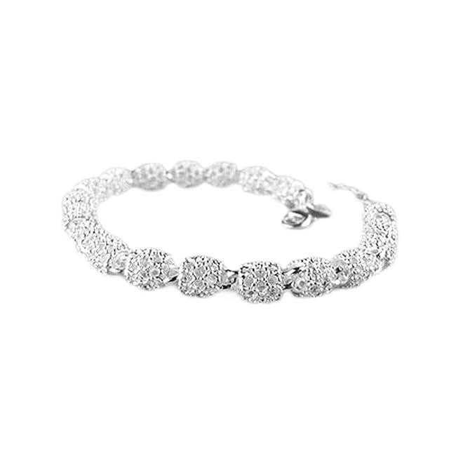 Hosaire 1X Fashion Bracelet Crystal Charm Silv...