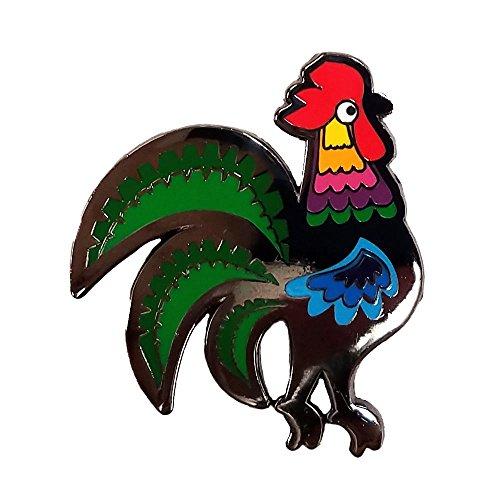 Dutch Folk Art Rooster Enamel Pin (Rooster Hat Pin)