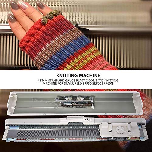 Knitting Machine 4.5mm Standard Gauge Plastic Domestic Knit Machine for Silver Reed SRP50 SRP60 SRP60N by ZJchao (Image #1)