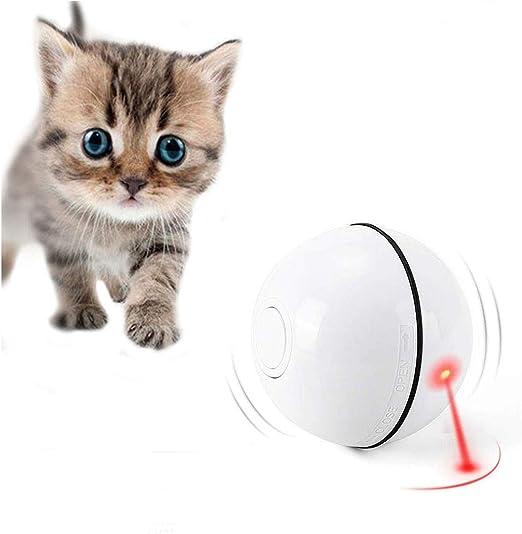 Gookit Pelotas de Juguete para Gato, Interactivo y automático, Recargables, USB, luz LED, para Entretenimiento, Ejercicio de Mascotas, Juguete para Gatos y Perros: Amazon.es: Productos para mascotas