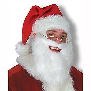 Amazoncom Plush Santa Hat wBeard  Moustache Party Accessory 1