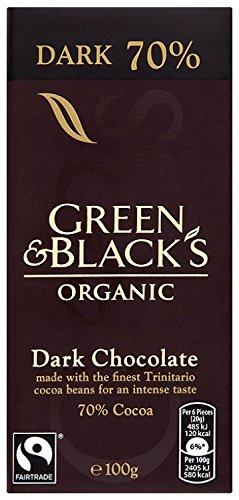 Green and Black's Organic Dark Chocolate 100 g (Pack of 5)