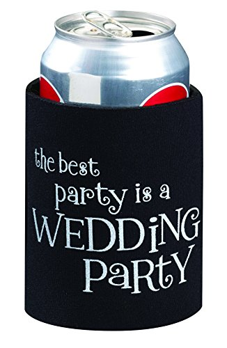 Lillian Rose Black Can Cup Cozy Wedding Party Favors