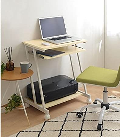 eba5fa505ac InnoFur Trapezi PC Desk (Beige) with Castor/Computer Table with Castor/ Computer