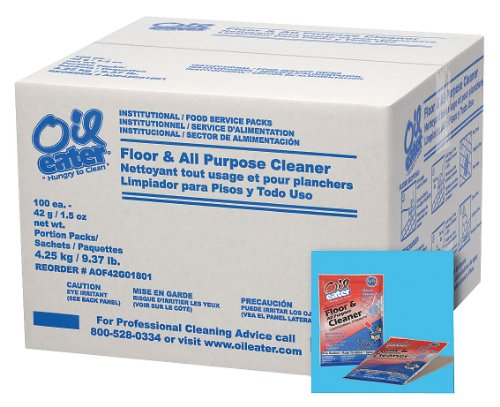 Floor Cleaner, Odorless, 1.5 oz, PK100