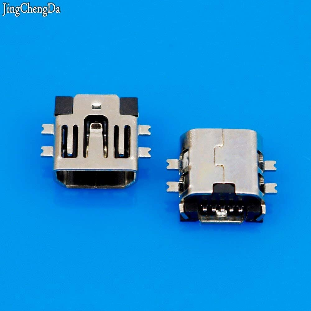 Cable Length: 20pcs Cables 20pcs//lot Mini USB Connector Type B Female Charging Port 5-Pin Micro USB connector180 Degree SMD SMT PCB USB Jack