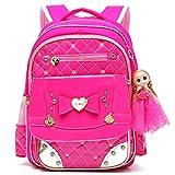 Ali Victory Waterproof PU Leather Kids Backpack Cute School Bookbag for Girls