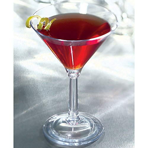 Cambro BWM10CW Aliso 10.5 oz. Polycarbonate Martini Glass - 12/Case by Cambro