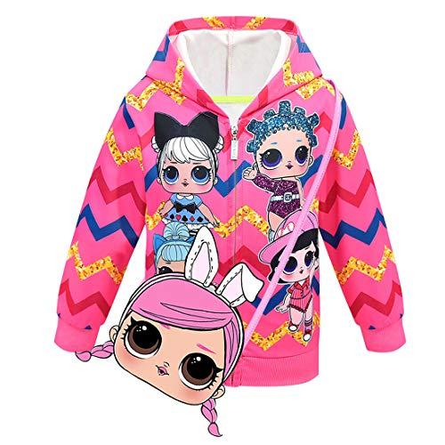 ALAMing LOL verrassende mode voor meisjes, bedrukte jas voor in de herfst en winter met capuchon, winterjas, jas voor…