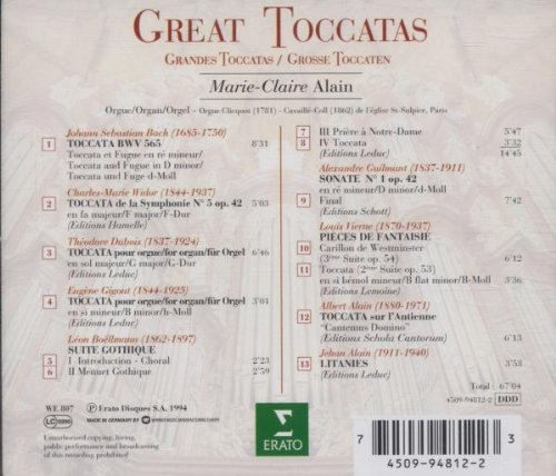Great Toccatas by Alliance