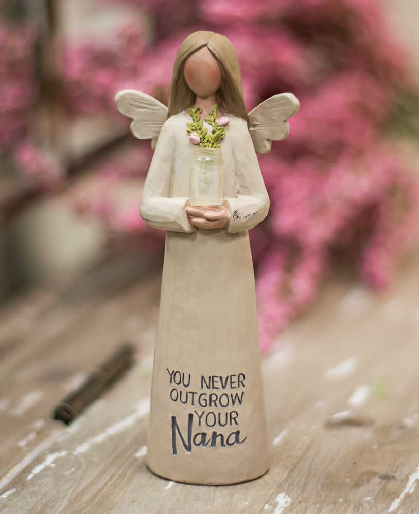 CWI Gifts Nana Resin Angel with Vase