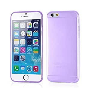 Sagrun 0.3mm Ultra Thin Clear Crystal Rubber Silicone Soft Case Cover for Iphone 6 Purple
