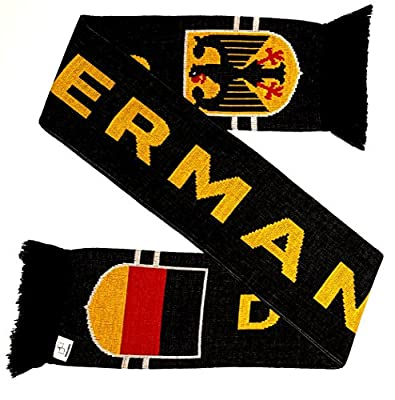 Germany Deutschland Black Soccer Knit Scarf
