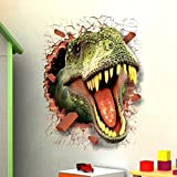 Best Wall Stickers For Bedroom Sofas - Aibote 3D Dinosaur Wall Decal Mural Home Window Review