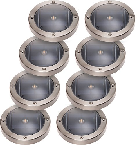 8 Pack GreenLighting 5 Lumen Solar Deck Lights