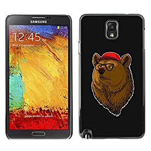 GagaDesign Phone Accessories: Hard Case Cover for Samsung Galaxy Note 3 - Cool Hipster Bear