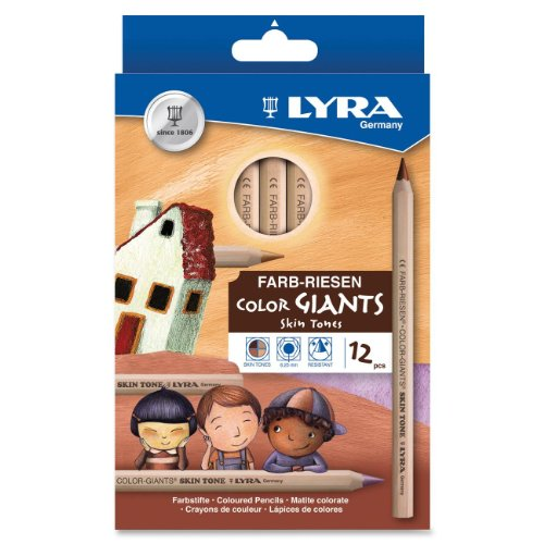 Dixon Ticonderoga Company Lyra Color Giants Skin Tone Colored Pencils -
