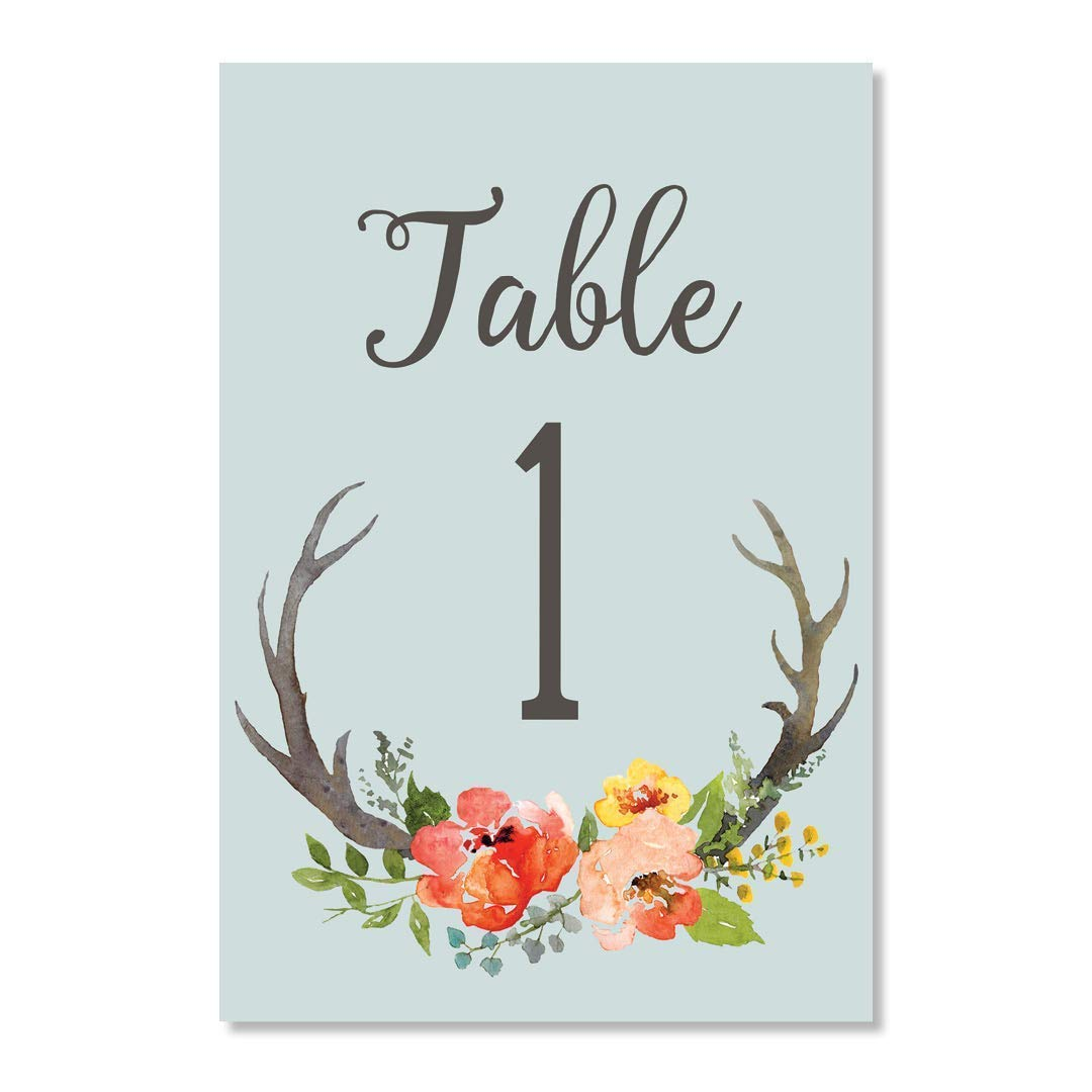 Country Rustic Boho Table Numbers 25 Count Reserved Seats Centerpiece Accessories Bridal Shower Wedding Rehearsal Reception Event Catered Brunch Banquet Dinner Single Sided 4