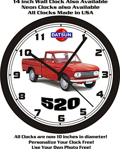1966 DATSUN 520 PICKUP TRUCK WALL CLOCK-FREE USA SHIP!