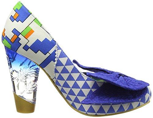 Irregular Choice Bowtina - Tacones Mujer Azul - azul (azul/blanco)