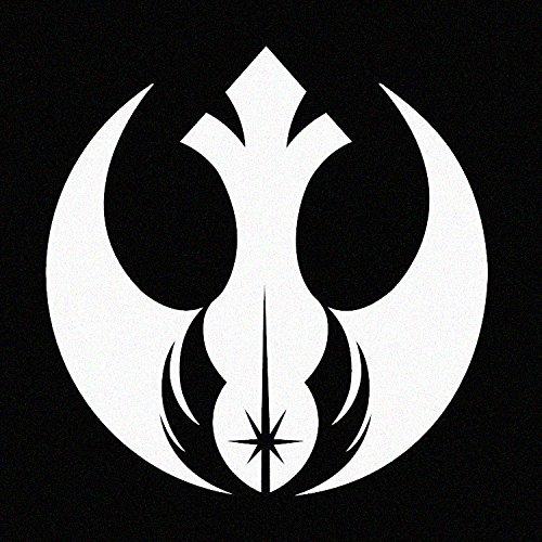 (Rebel Alliance Jedi Order (Star Wars Inspired) - White Vinyl Decal (White))