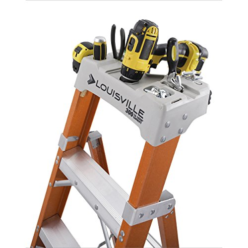 Fiberglass Heavy Duty Slip Resistant Rubber Tread Ladder by Louisville Ladder (Image #3)