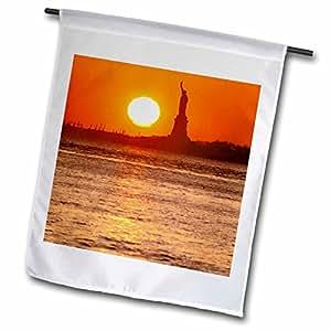 Danita Delimont - New York - New York City. Statue of Liberty at sunset - US33 DBN0024 - David Barnes - 18 x 27 inch Garden Flag (fl_93076_2)