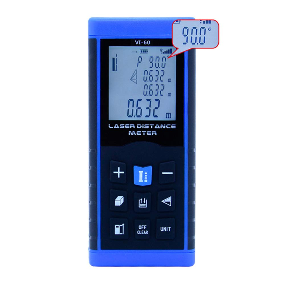 OUTEST Laser Measure 197ft(60M) Digital Laser Distance Measure With Mute Function, Single-distance, Continuous, Area, Volume Measurement and Pythagorean Modes