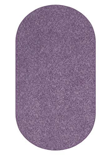 Koeckritz 3 X5 Oval Plum Fab Purple 25.5 oz 1 2 Thick Plush Cut Pile Indoor Carpet Area Rug