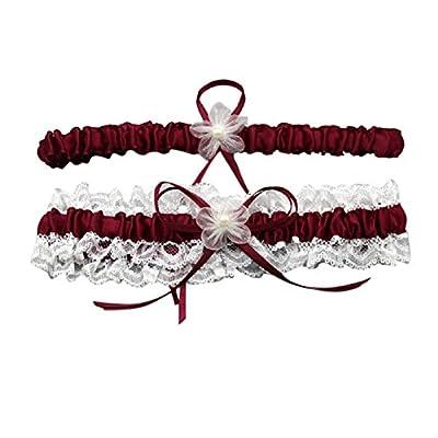 Vimans Women's Wedding Accessories Garters Bridal Lace Garter Set for Bride