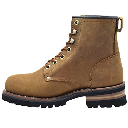 King Rocks Mens 7 Boot Logger Da Lavoro Tan