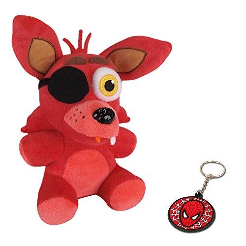 Foxy Plush Freddy Five Nights Cute Red Fox Plush Fnaf with keychain gift