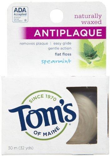 Tom's of Maine Antiplaque Flat Floss - Spearmint - 32 ct - 2 pk (Antiplaque Flat Floss Maine)