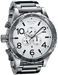 Nixon Mens A083-100 Stainless-Steel Analog White Dial Watch