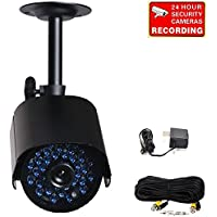 VideoSecu Infrared Day Night Outdoor Bullet Security Camera 520 TVL 36 IR LEDs Built-in Mechanical IR-Cut filter switch for CCTV DVR Home Surveillance System with Free Power Supply and Cable A14