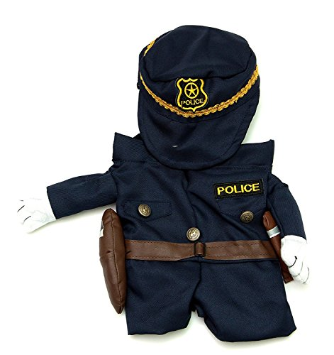 Dog Costumes With Fake Arms (Fake Arms Policeman Dog Costume (Small Dog Small) by Midlee)