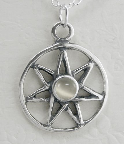 Sterling Silver Fairy Star Accented with a Genuine White Moonstone Made in America