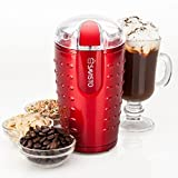 Savisto High Powered Electric Coffee Bean/Spice and Nut Grinder with Stainless Steel Blade, Red, 70 g