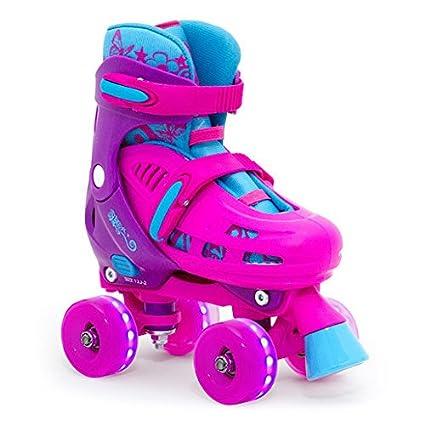 SFR Hurricane Quad verstellbare Rollschuhe LED-Rollen M/ädchen pink