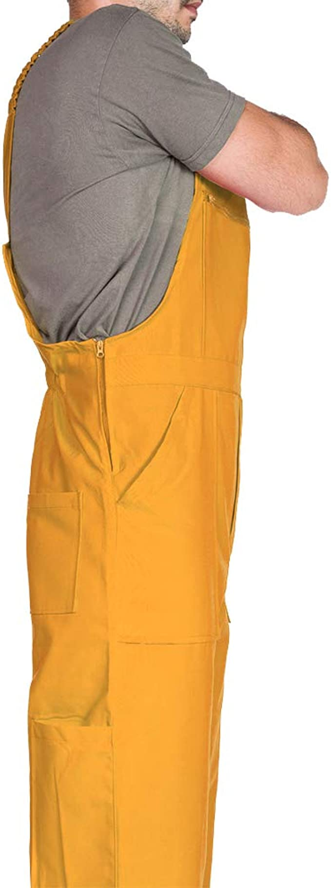 Pantalones con peto de trabajo para hombre, Made in EU, Mono de ...
