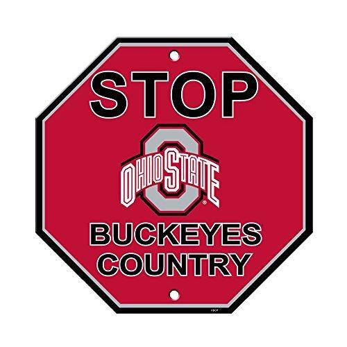 (Ohio State University Buckeyes College NCAA Collegiate Sports Team Logo Home Office Garage Wall Stop Sign - STOP OHIO STATE BUCKEYES COUNTRY)