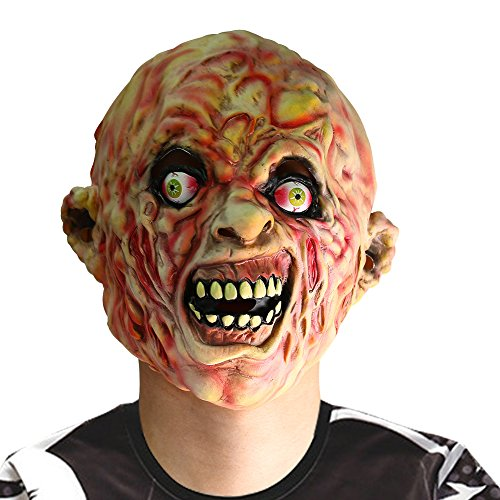INKERSCOOP Scary Zombie Skull Face Mask Halloween Costume Party Cosplay Melting Ghost Mask Adult Latex Costume (Ghost Adult Mask)