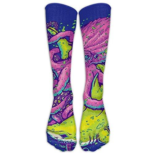 Shark Vs Kraken Unisex Compression Socks Crazy Badminton Comfort Moisture Wicking Non Slip Sock Shoe Size - Online Kraken